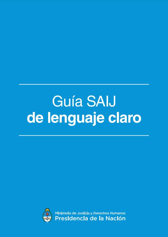 Guía SAIJ de Lenguaje Claro