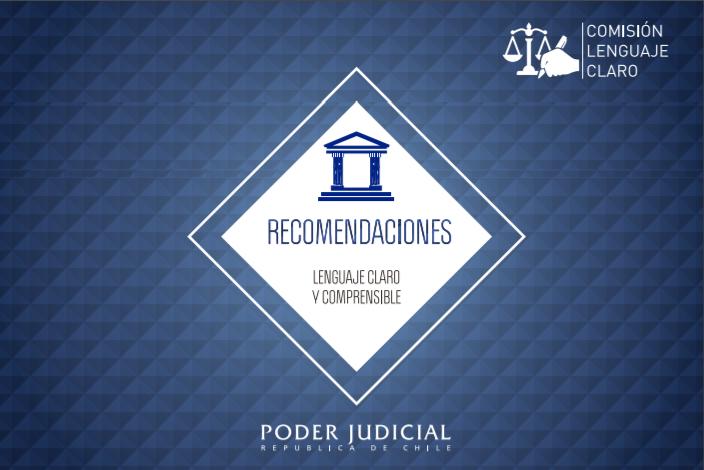 Recomendaciones del poder judicial de Chile