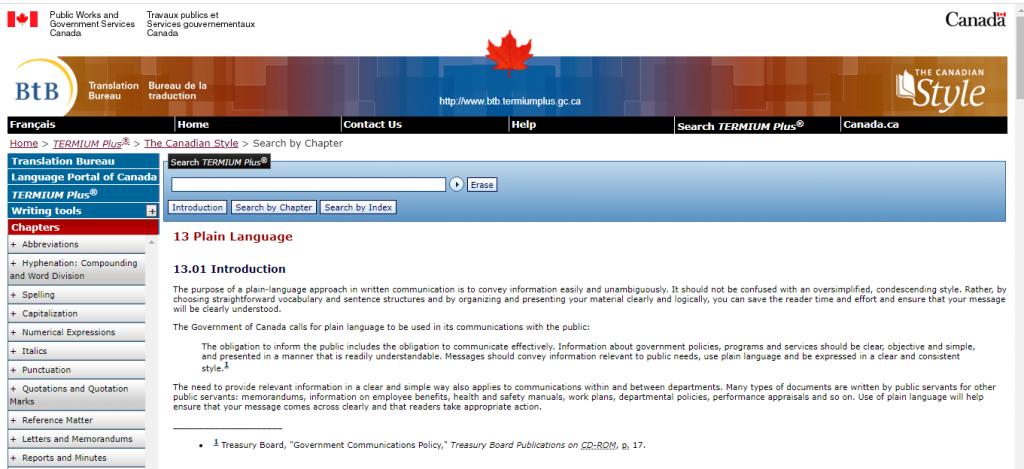 Lenguaje Sencillo Gobierno de Canadá