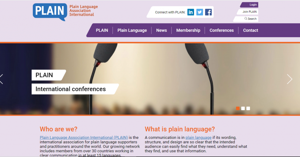 Plain Language Association International (PLAIN)