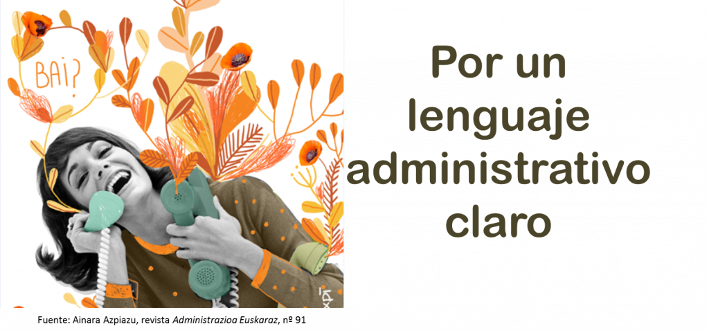 Lenguaje Administrativo Claro del Instituto Vasco de Administración Pública