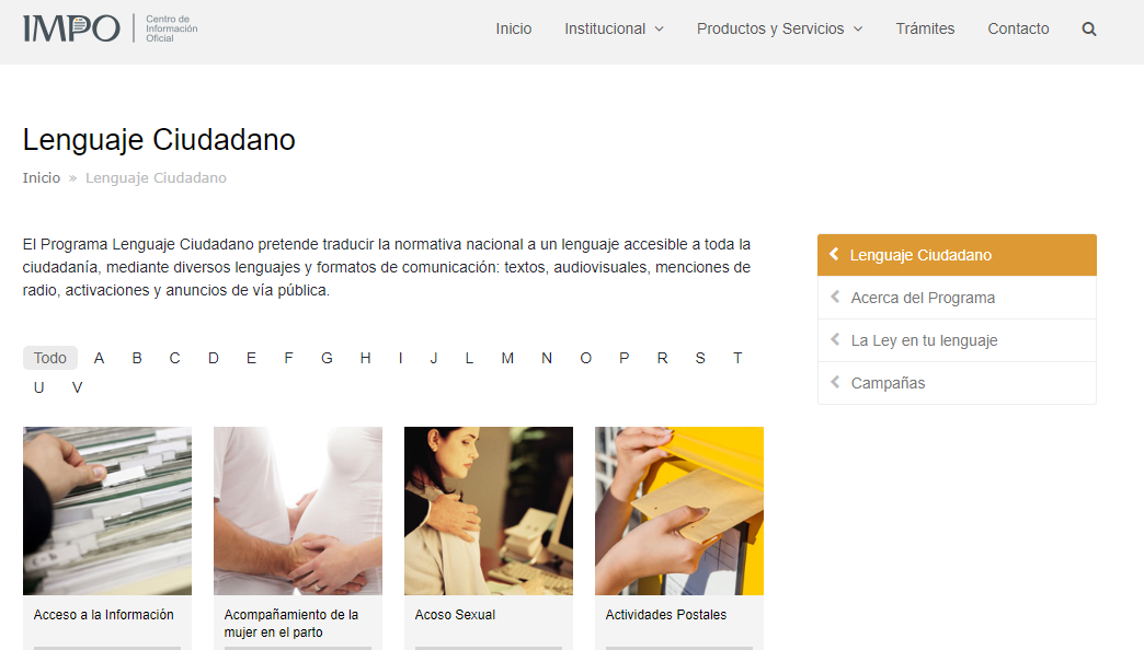 Programa de Lenguaje Ciudadano de IMPO. Uruguay