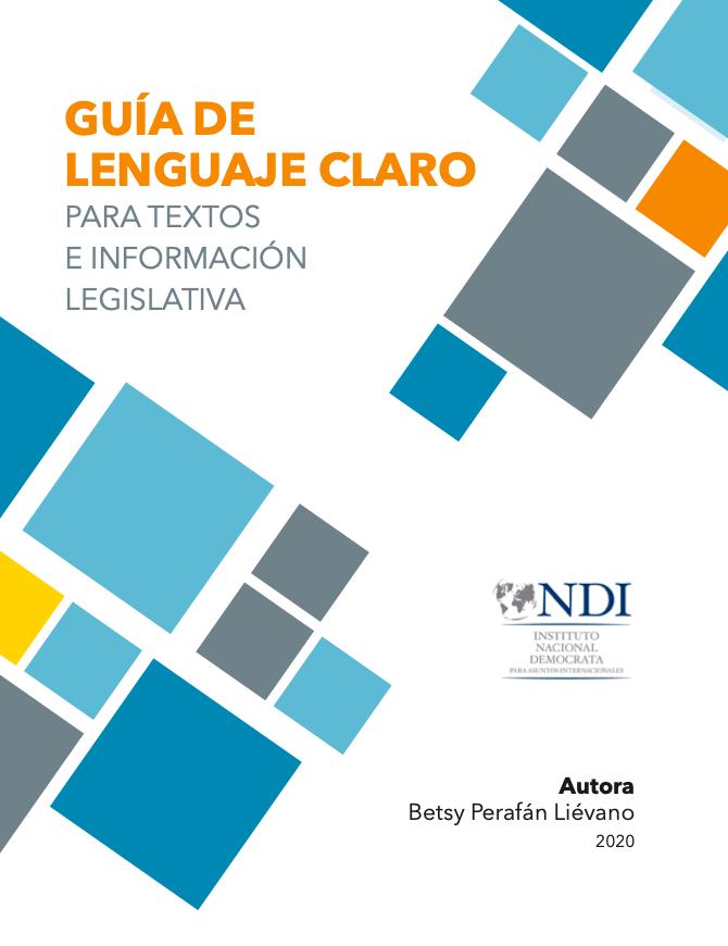 Guía de Lenguaje Claro para Textos e Información Legislativa