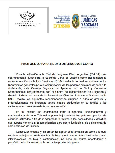 Protocolo de lenguaje claro PBA